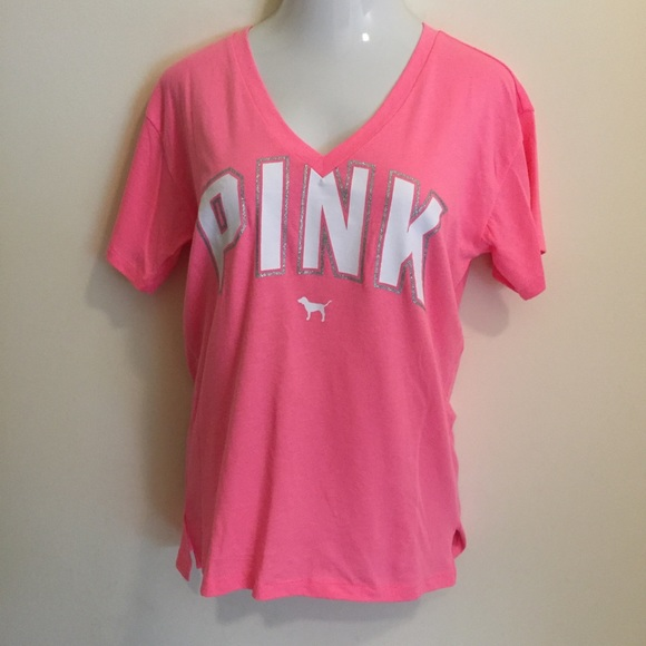 02aeac0e73762 PINK Victoria's Secret women's T Shirt Logo New NWT